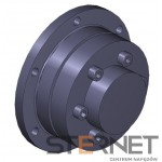Sprzęgło N-EUPEX, rozmiar: 440, typ: D, TKN 13500Nm