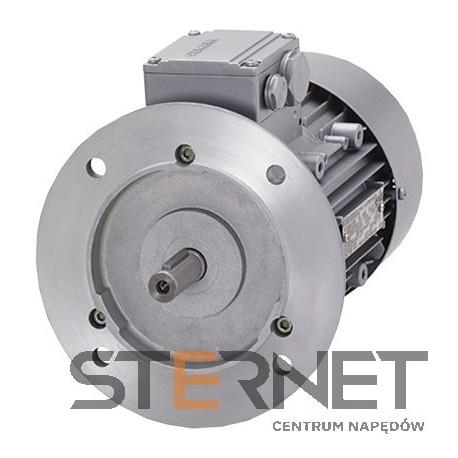 Silnik trójfaz. Siemens: 0,09kW, 850obr/min, 230/400V (Δ/Y), Kołnierzowy (IMB5), Kl. izol. F, IP55, Wlk. mech: 63M