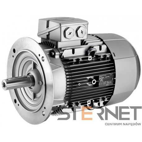 Silnik trójfaz. Siemens 7,5kW,obroty 3000obr/min 400/690V (Δ/Y), 50Hz, Wiel. mech. 132S, Wykon. mech. kołnierzowy (IMB5/IM3001), IP55, klasa izolacji F, IE1, Opcje spec.: Praca silnika w temp. do 55°C