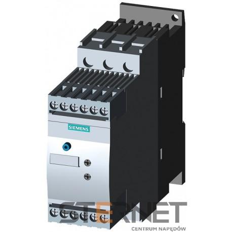 SIRIUS SOFTSTART, WLK. S0, 25A, 11KW/400V, 40 ST., 200-480V AC, 24V AC/DC, ZACISKI ŚRUBOWE,