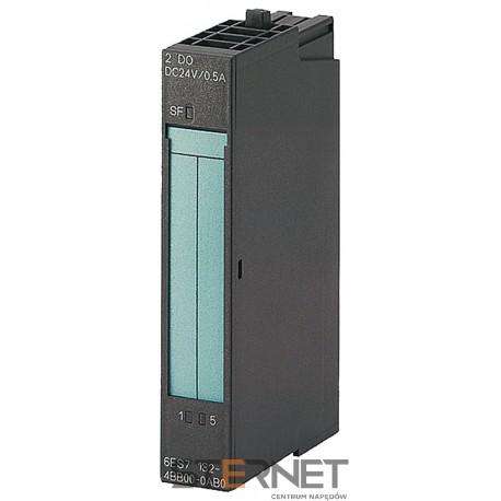 SIMATIC DP, moduły wyjść binarnych ET 200S, 2 wyjścia binarne HIGH FEATURE 24V DC, szerokość modułu 15 MM, DIAGNOSTYKA ZWARCIA I PRZERWANIA OBWODU, SF-LED (BŁĄD GRUPY), 5 sztuk w opakowaniu