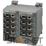 SCALANCE X216, MANAGED IE SWITCH, 16 X 10/100MBIT/S RJ45 PORTS, LED DIAGNOSTICS, FAULT SIGNAL. CONTACT WITH SET BUTTON REDUNDANT POWER SUPPLY, PROFINET-IO DEVICE, NETWORK- MANAGEMENT, INTEGRATED REDUNDANCY MANAGER, INCL. ELECTRONIC MANUAL ON CD, C-PLUG OPTIONAL