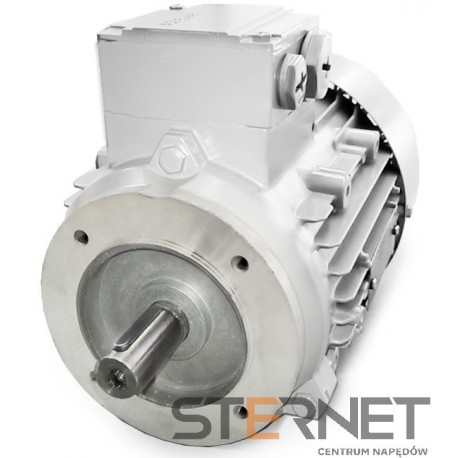 Silnik trójfaz. Siemens: 0,18kW, 1350obr/min, 230/400V (Δ/Y), Kołnierzowy (IMB14), Kl. izol. F, IP55, Wlk. mech: 63M