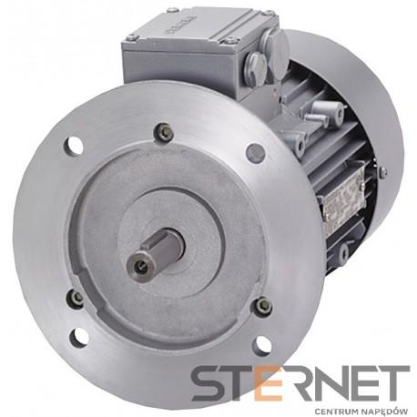 Silnik trójfaz. Siemens: 0,37kW, 920obr/min, 230/400V (Δ/Y), Kołnierzowy (IMB5), Kl. izol. F, IP55, Wlk. mech: 80M