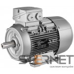 Silnik trójfazowy prod. Siemens, Moc: 1,1kW, Prędkość: 3000obr/min, Napięcie: 230/400V (Δ/Y), 50Hz, Wielkość: 80M, Wykonanie mechaniczne: łapowy (IMB3), Klasa izolacji F, IP55, Klasa sprawności IE3