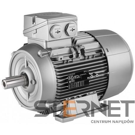 Silnik trójfazowy prod. Siemens, Moc: 1,1kW, Prędkość: 1500obr/min, Napięcie: 230/400V (Δ/Y), 50Hz, Wielkość: 90S, Wykonanie mechaniczne: łapowy (IMB3), Klasa izolacji F, IP55, Klasa sprawności IE3