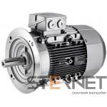 Silnik trójfazowy produkcji Siemens , Moc: 0,55 kW , Prędkość: 675 obr/min , Napięcie: 230/400V (∆/Y), 50Hz, Wykonanie: kołnierzowy (IMB5) , Klasa izolacji F, IP55, EFF2 (IE1), Wielkość mechaniczna: 90L