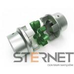 Sprzęgło N-BIPEX Rozmiarmiar:65 Tkn:1000Nm wkładka zielona 95 ShoreA