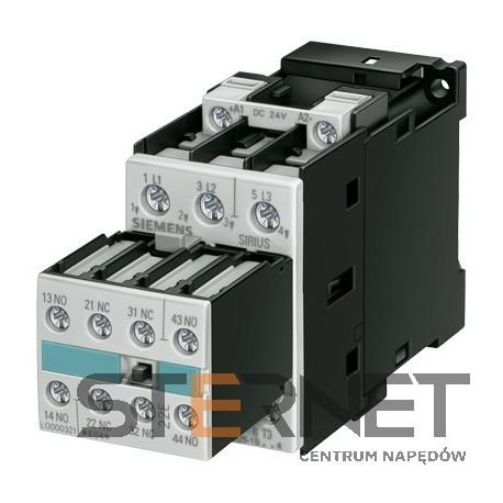 STYCZNIK, AC-3, 5.5 KW/400 V, DC 220 V, 3-P, 2 NO + 2 NC, WLK. S0, PRZYŁ. ŚRUB.,