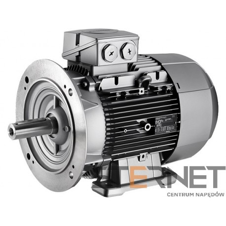 Silnik trójfazowy prod. SIEMENS - Moc: 1,1kW, Prędkość: 3000obr/min Napięcie: 400V (Y), 50Hz, Wielkość: 80M, Wykonanie mechaniczne: łapowo-kołnierzowy (IMB35/IM2001), Klasa izolacji F, IP55, Klasa sprawności IE2