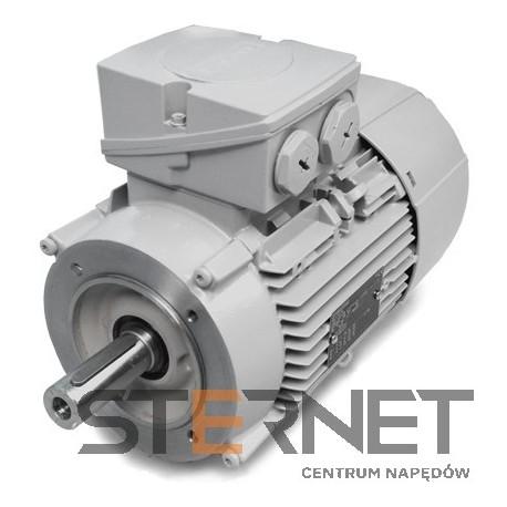 Silnik trójfazowy prod. Siemens, Moc: 1,1kW, Prędkość: 3000obr/min, Napięcie: 230/400V (Δ/Y), 50Hz, Wielkość: 80M, Wykonanie mechaniczne: kołnierzowy (IMB14/IM3601), Klasa izolacji F, IP55, Klasa sprawności IE3Opcje specjalne:, 3 czujniki PTC w uzwojeniu