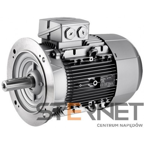 Silnik trójfazowy prod. Siemens, Moc: 3kW, Prędkość: 1500obr/min, Napięcie: 230/400V (Δ/Y), 50Hz, Wielkość: 100L, Wykonanie mechaniczne: kołnierzowy (IMB5/IM3001), Klasa izolacji F, IP55, Klasa sprawności IE3Opcje specjalne:, 3 czujniki PTC w uzwojeniu