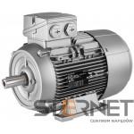 Silnik trójfazowy prod. Siemens, Moc: 0,75kW, Prędkość: 1500obr/min, Napięcie: 230/400V (Δ/Y), 50Hz, Wielkość: 80M, Wykonanie mechaniczne: łapowy (IMB3), Klasa izolacji F, IP55, Klasa sprawności IE3