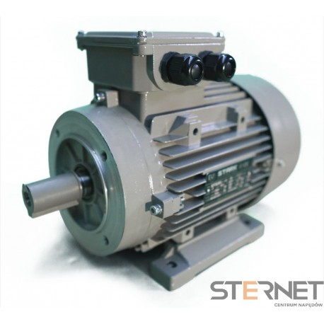 SILNIK ELEKTRYCZNY 3-fazowy, marki STARK, Moc 1,1kW, 2900obr/min, 230VD/400VY, wykonanie B34, Wielkość mech. 80, Sprawność IE2
